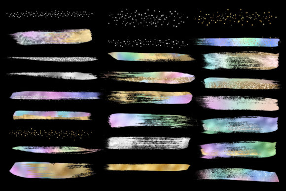Rainbow Pastel Brush Strokes Graphic Illustrations By Digital Curio - Image 4
