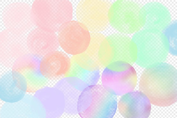 Rainbow Pastel Watercolor Circles Graphic Illustrations By Digital Curio - Image 2