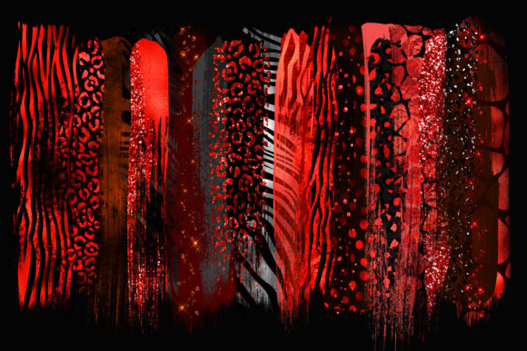 Red Safari Brush Strokes Clipart Graphic Illustrations By Digital Curio - Image 2