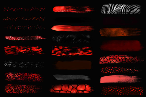 Red Safari Brush Strokes Clipart Graphic Illustrations By Digital Curio - Image 3