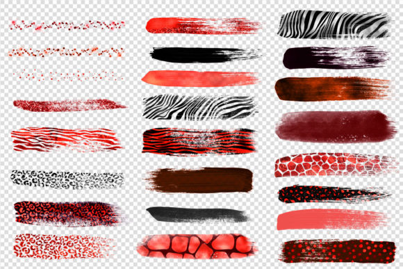 Red Safari Brush Strokes Clipart Graphic Illustrations By Digital Curio - Image 4
