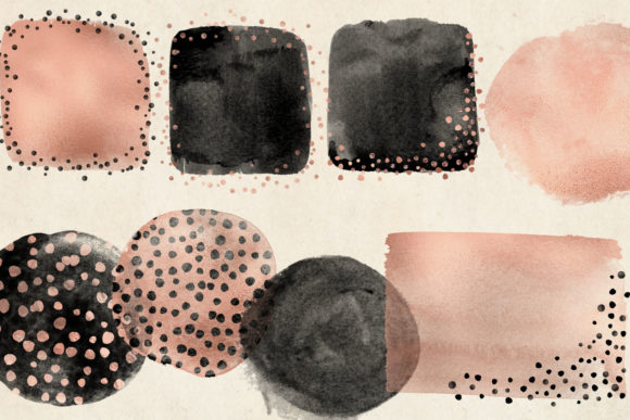 Rose Gold Cheetah Brush Strokes Clipart Graphic Illustrations By Digital Curio - Image 3