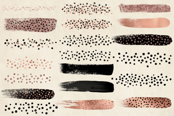 Rose Gold Cheetah Brush Strokes Clipart Graphic Illustrations By Digital Curio - Image 5