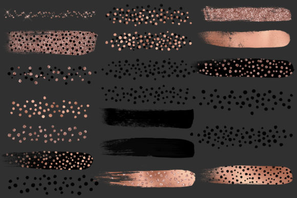 Rose Gold Cheetah Brush Strokes Clipart Graphic Illustrations By Digital Curio - Image 6