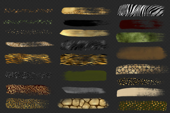 Safari Brush Strokes Clipart Graphic Illustrations By Digital Curio - Image 3