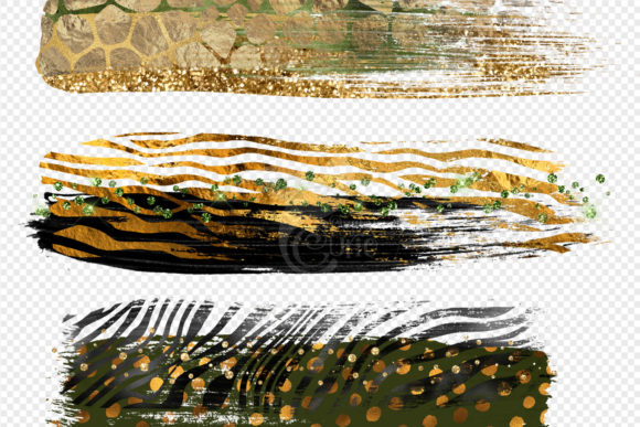 Print on Demand: Safari Brush Strokes Clipart Graphic Illustrations By Digital Curio - Image 5