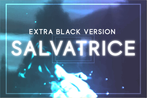 Print on Demand: Salvatrice Extra Black Sans Serif Font By Huntype