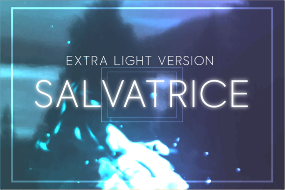 Print on Demand: Salvatrice Extra Light Sans Serif Font By Huntype