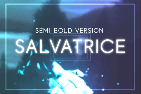 Print on Demand: Salvatrice Semi-Bold Sans Serif Font By Huntype