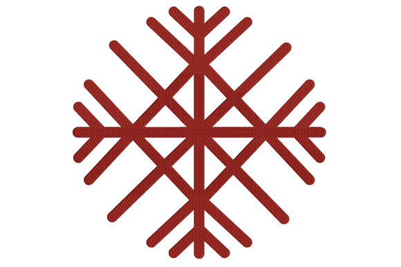 Print on Demand: Snowflake Ornament Winter Stickdesign von ed.creative