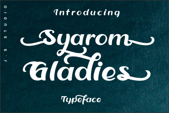 Print on Demand: Syarom Gladies Display Font By artype07 - Image 1