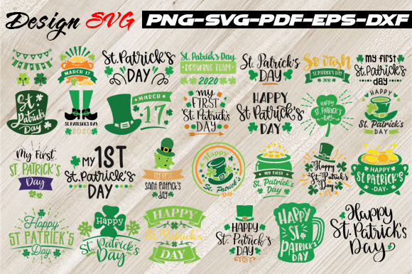 Download Free The Patrick S Day Bundle Art Graphic By Design Svg Creative for Cricut Explore, Silhouette and other cutting machines.