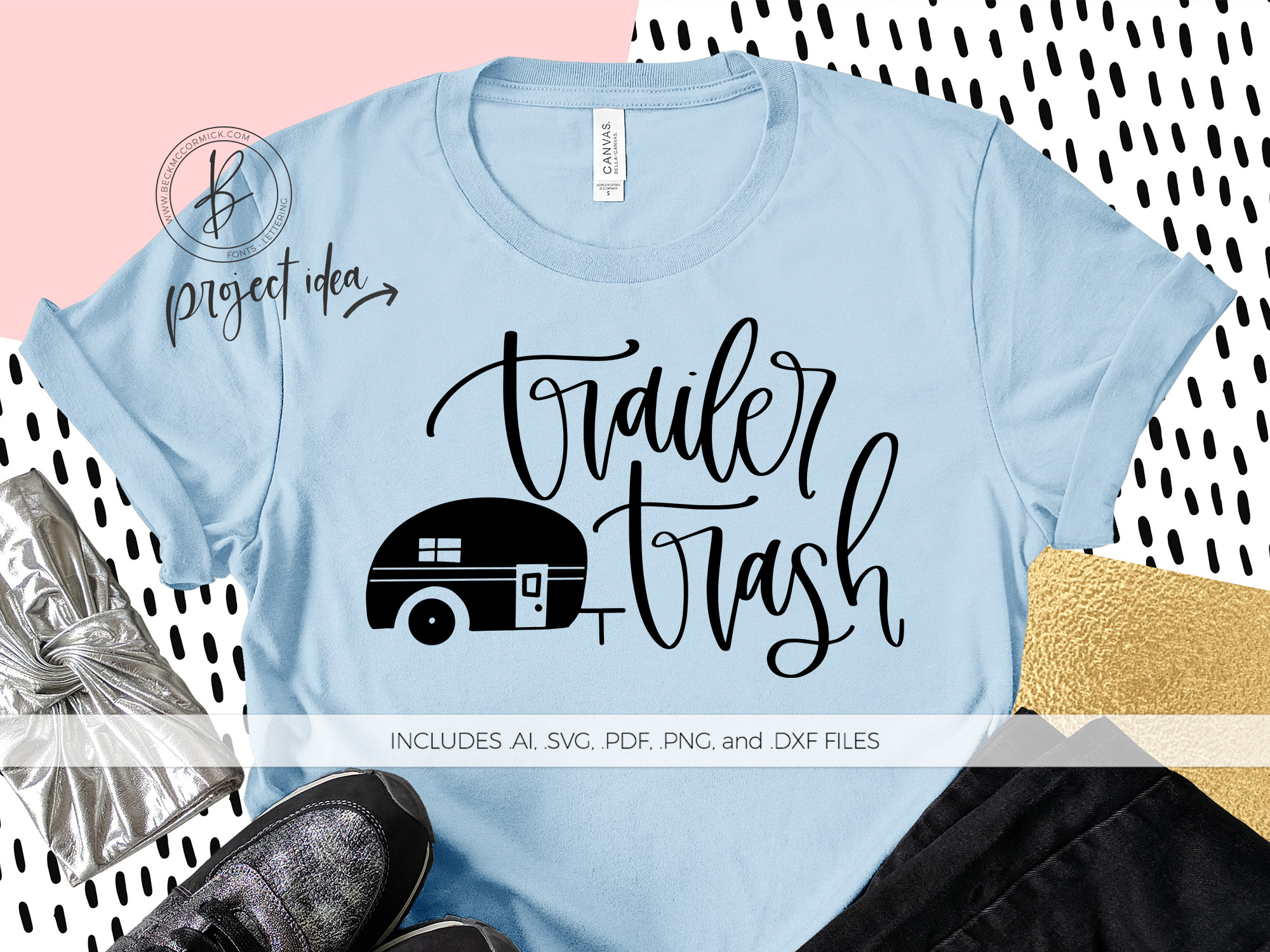 Download Free Trailer Trash Graphic By Beckmccormick Creative Fabrica for Cricut Explore, Silhouette and other cutting machines.