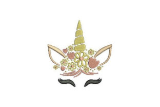 Unicorn Face Fairy Tales Embroidery Design By Embroidery Designs