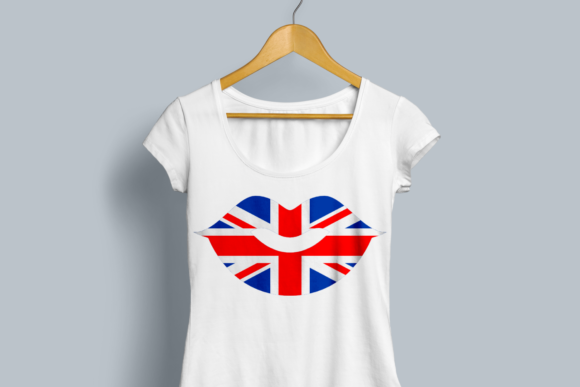 Union Jack Lips Graphic Crafts By DesignedByGeeks