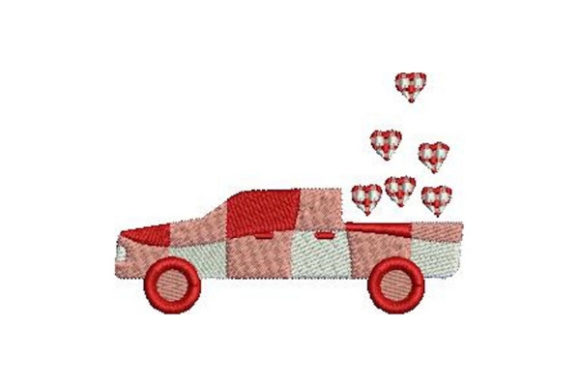 Valentine's Truck Valentine's Day Embroidery Design By Embroidery Designs