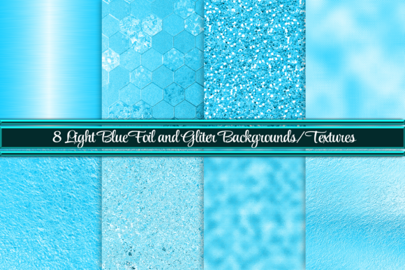 Print on Demand: Vibrant Light Blue Backgrounds/Textures Graphic Backgrounds By AM Digital Designs