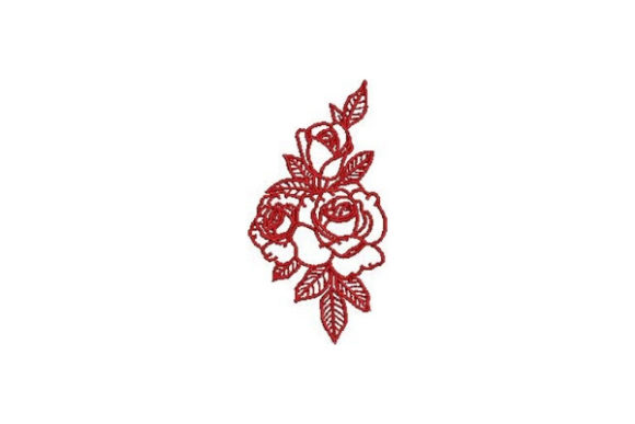 Victorian Valentine Outline Outline Flowers Embroidery Design By Embroidery Designs