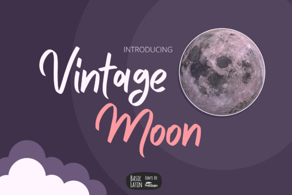 Print on Demand: Vintage Moon Sans Serif Font By YandiDesigns