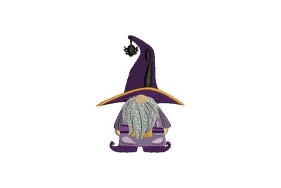 Witch Gnome Halloween Embroidery Design By Embroidery Designs