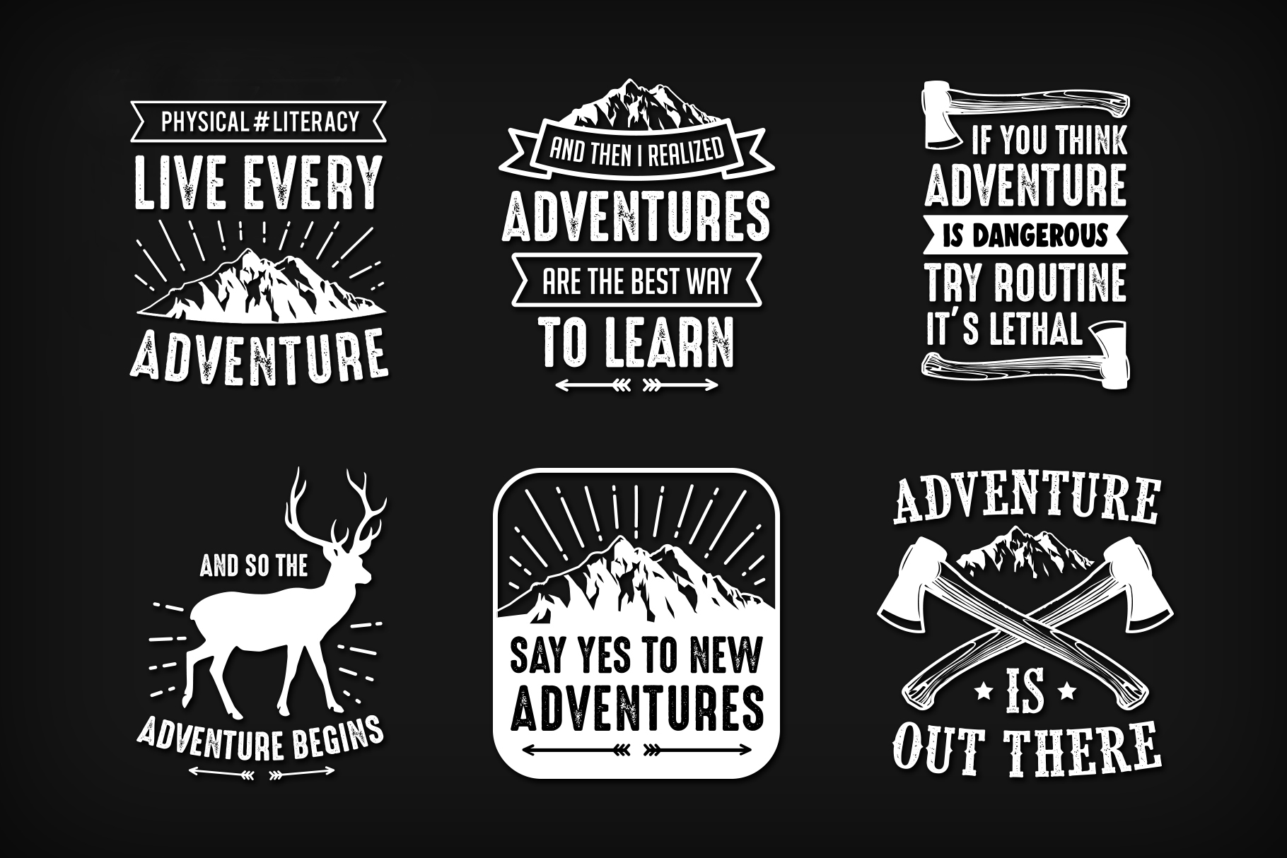 Download Free Adventure Quotes Graphic By Creative Fabrica Freebies Creative for Cricut Explore, Silhouette and other cutting machines.