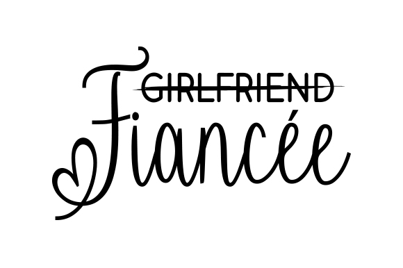 Download Free Fiancee Svg Cut File By Creative Fabrica Crafts Creative Fabrica for Cricut Explore, Silhouette and other cutting machines.