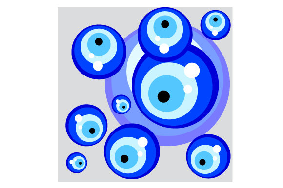 Download Free Evil Eye Seamless Pattern Svg Cut File By Creative Fabrica for Cricut Explore, Silhouette and other cutting machines.