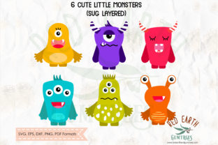 Baby Monsters Bundle Graphic Crafts By redearth and gumtrees