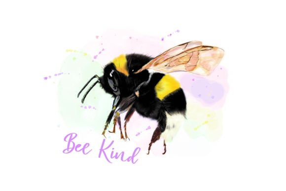 Download Free Watercolor Bumblebee Graphic By Emma Metcalf Designs Creative for Cricut Explore, Silhouette and other cutting machines.