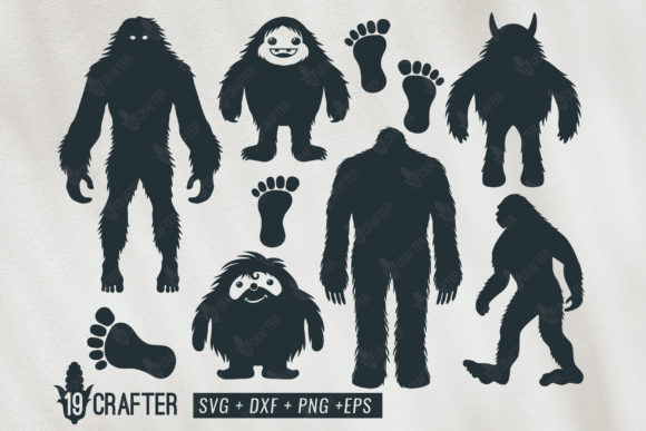 Print on Demand: Bigfoot and Yeti Bundle Graphic Crafts By great19