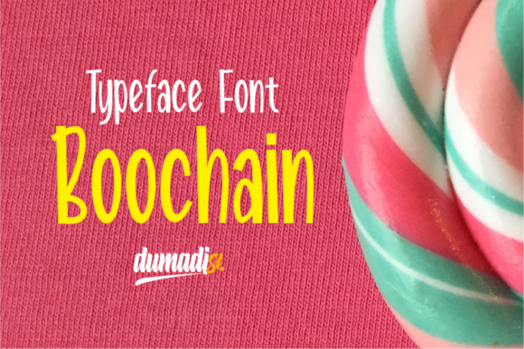 Print on Demand: Boochain Display Font By DUMADI