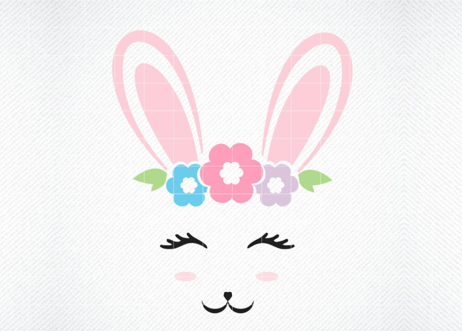 Download Free Bunny Face Graphic By Svg Den Creative Fabrica for Cricut Explore, Silhouette and other cutting machines.