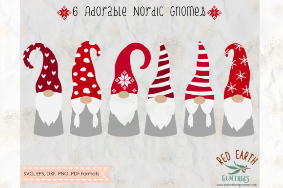 Christmas Gnome Graphic Crafts By redearth and gumtrees - Image 1