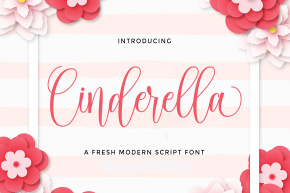 Print on Demand: Cinderella Script & Handwritten Font By Selotypestudio