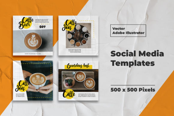 Download Free Coffe Instagram Template Graphic By Qohhaarqhaz Creative Fabrica for Cricut Explore, Silhouette and other cutting machines.