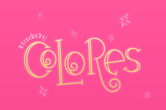 Print on Demand: Colores Display Font By Salt & Pepper Designs
