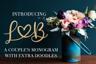 Print on Demand: Couples Monogram Display Font By Justina Tracy