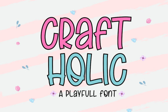 Print on Demand: Craft Holic Script & Handwritten Font By Sigit Dwipa