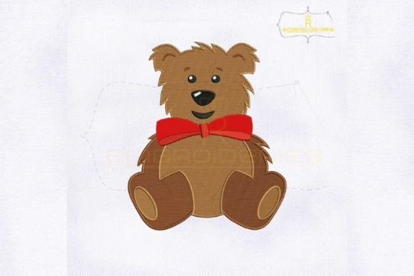 Cute Bear Emoji Woodland Animals Embroidery Design By royalembroideries