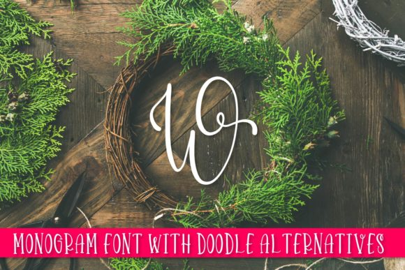 Print on Demand: Doodlegram Display Font By Justina Tracy