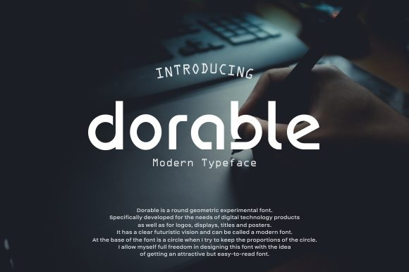Print on Demand: Dorable Display Font By LetterSpirit Studio