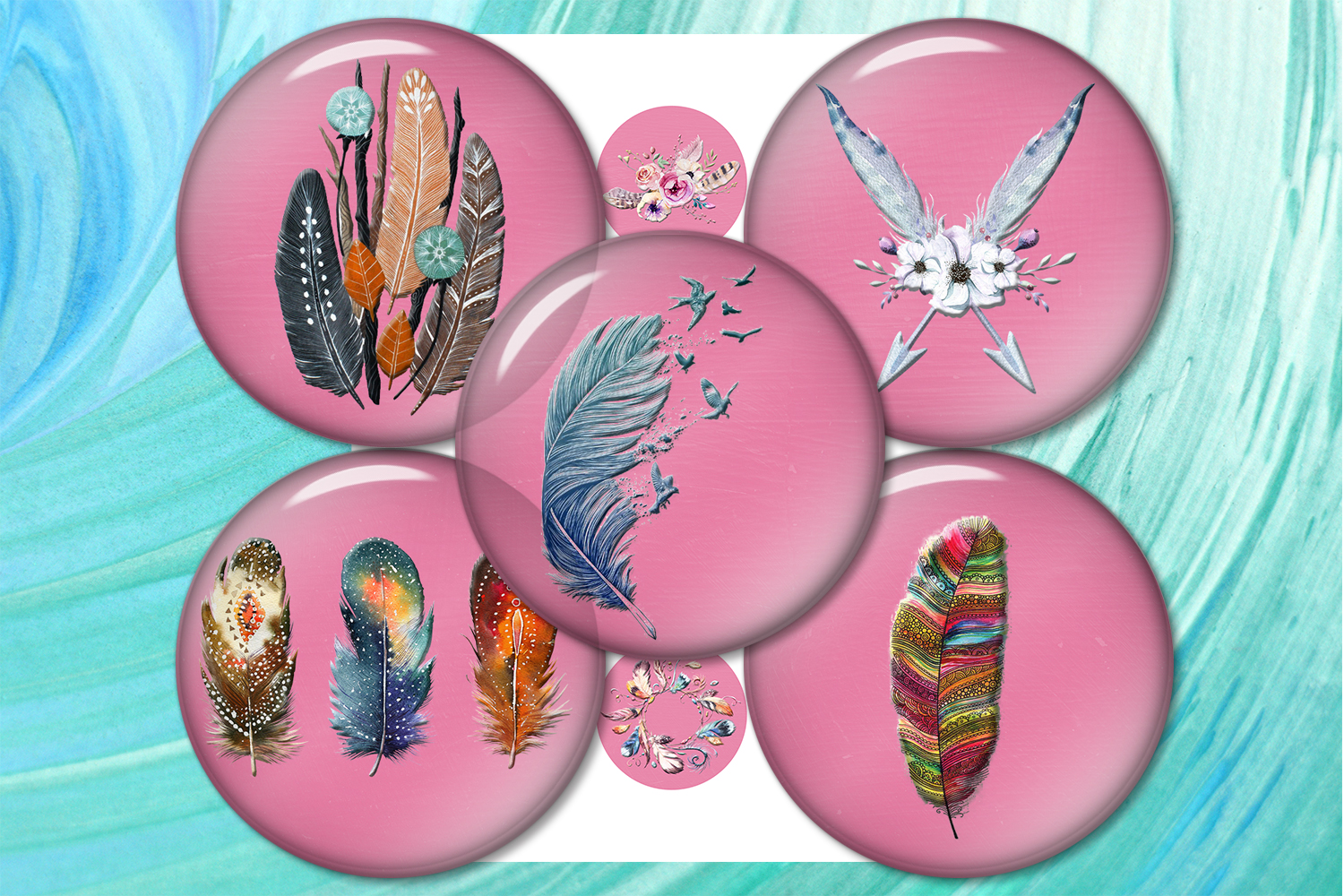 Download Free Dreamcatcher Feather Pendants Magnets Graphic By SVG Cut Files