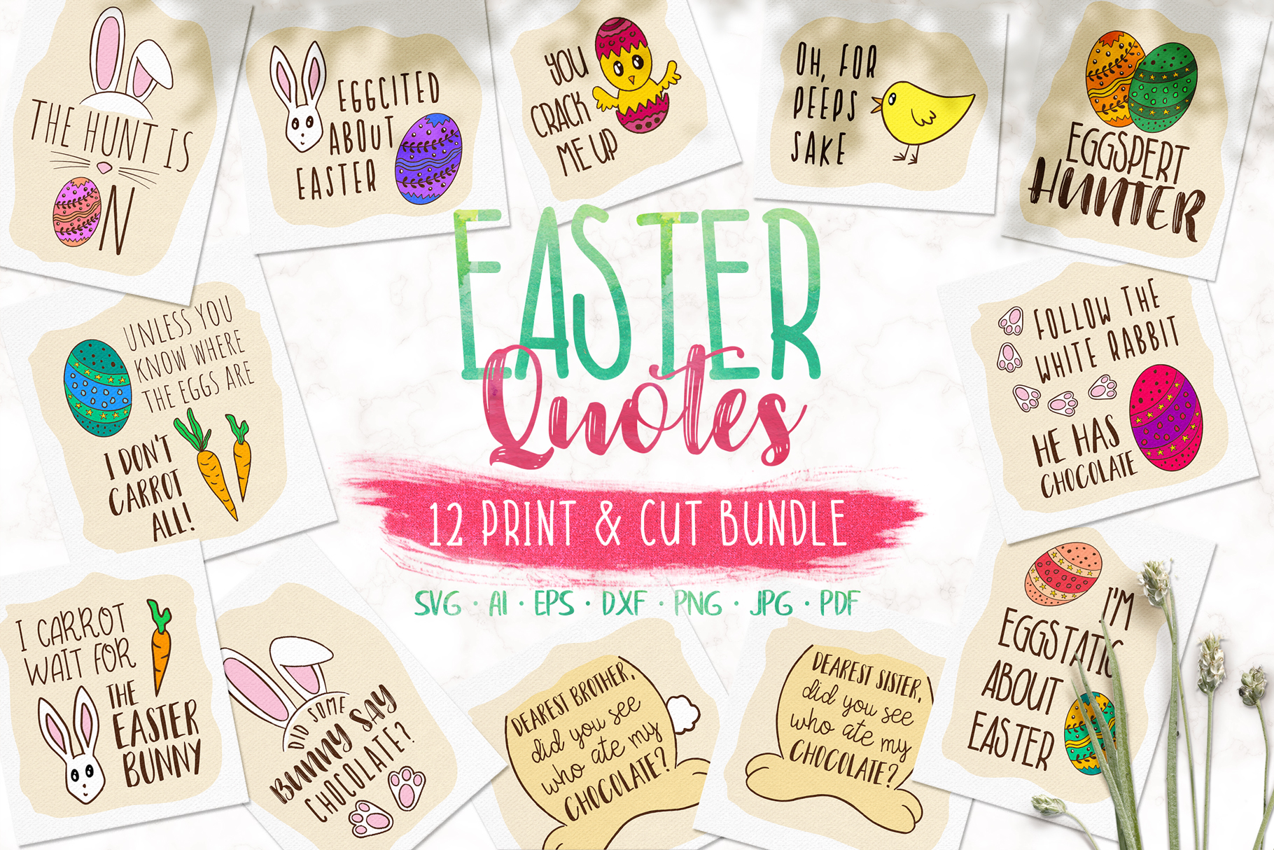 Easter Quotes Clipart Bundle Graphic By Jonas Stensgaard