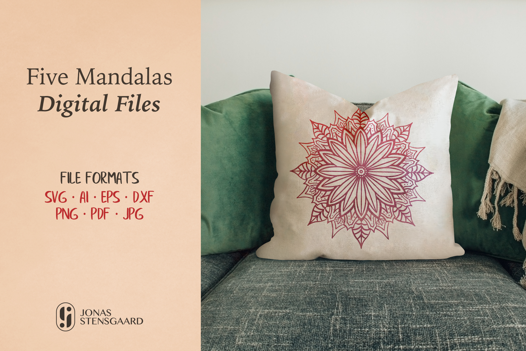 Download Free Five Mandala Cut Files Graphic By Jonas Stensgaard Creative for Cricut Explore, Silhouette and other cutting machines.