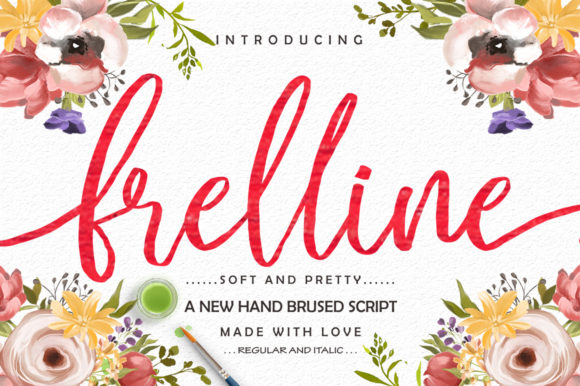 Print on Demand: Frelline Script & Handwritten Font By softcreative50