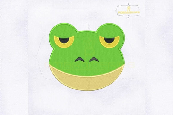 Frog Emoji Reptiles Embroidery Design By RoyalEmbroideries