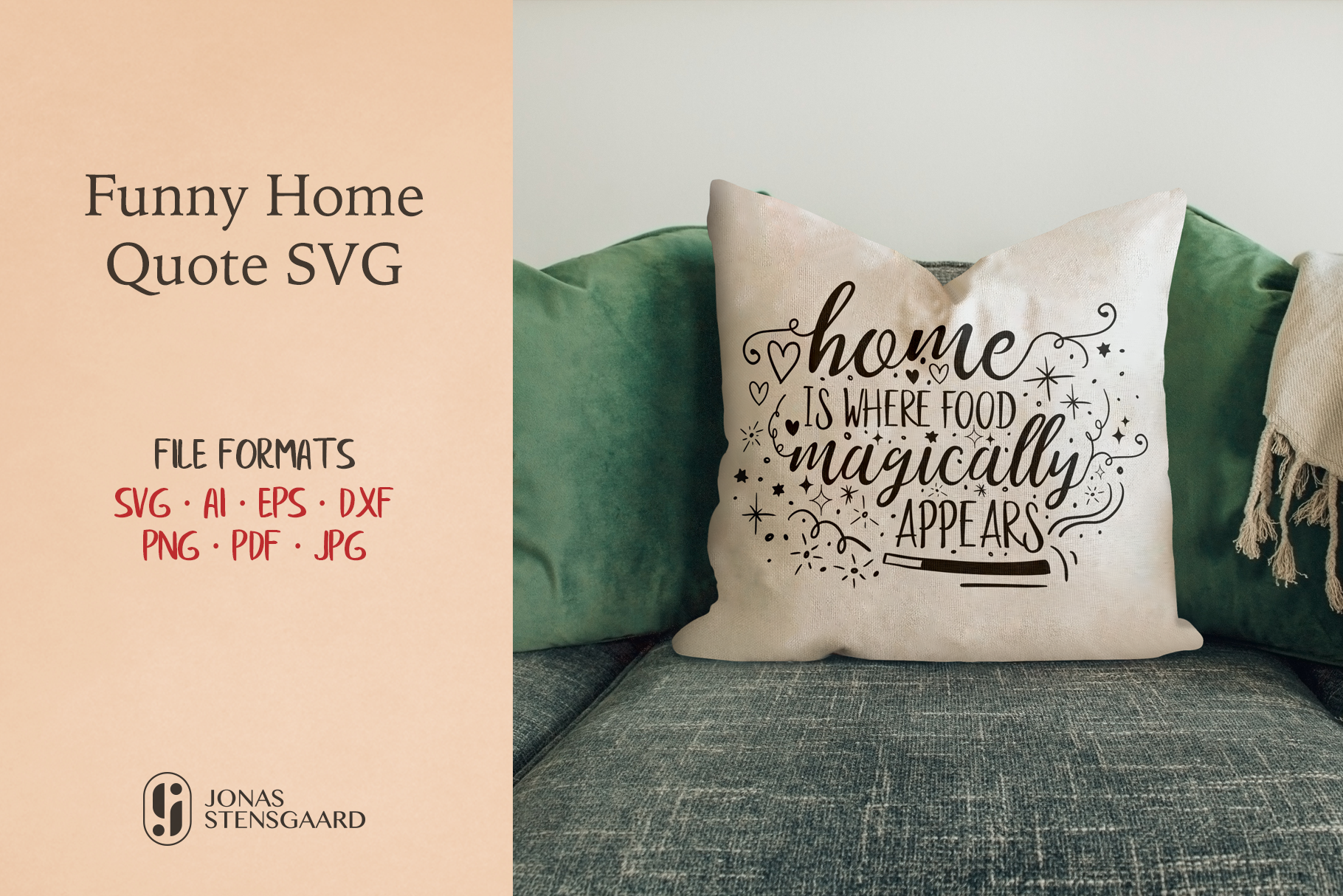 Download Free Funny Quote About Home Graphic By Jonas Stensgaard Creative for Cricut Explore, Silhouette and other cutting machines.