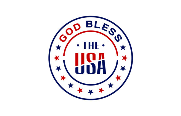 Print on Demand: God Bless the USA Graphic Print Templates By Laks Mi