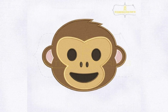 Download Free Happy Monkey Face Emoji Creative Fabrica for Cricut Explore, Silhouette and other cutting machines.