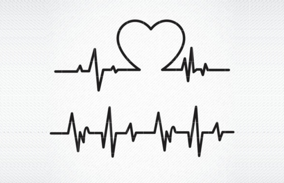 Download Free Heart Beat Graphic By Svg Den Creative Fabrica for Cricut Explore, Silhouette and other cutting machines.